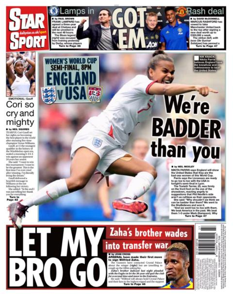 Star's back page