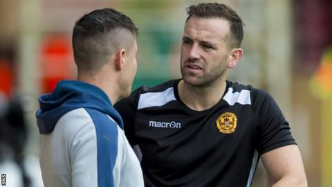 James McFadden (right) on the sidelines with Motherwell