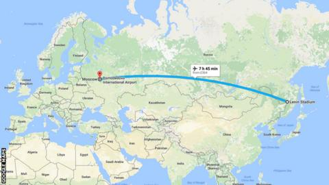 Khabarovsk to Moscow
