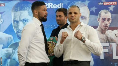 Tony Bellew and BJ Flores