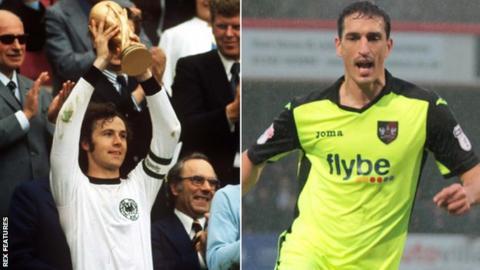 Franz Beckenbauer and Craig Woodman