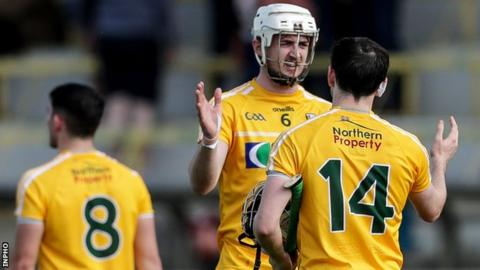 Antrim beat Meath by 16 points in the first round of the Joe McDonagh Cup