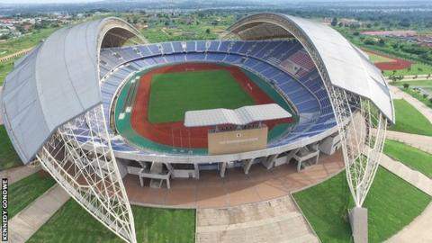 The Levy Mwanawasa stadium in Ndola