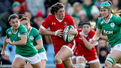 Laura Russell produces an attack for the dominant Canadians at the UCD Bowl