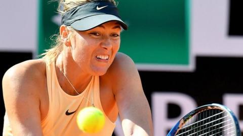 Maria Sharapova beats Jelena Ostapenko in Rome