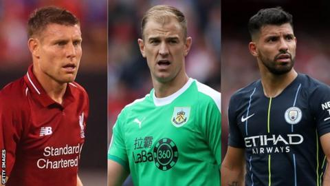 James Milner, Joe Hart and Sergio Aguero