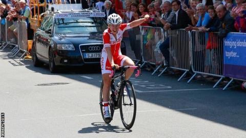 Kim Ashton celebrates at Jersey 2015