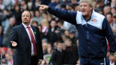 Rafael Benitez and Steve Bruce