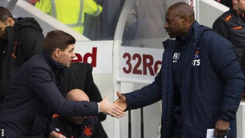 Rangers manager Steven Gerrard and Kilmarnock caretaker Alex Dyer