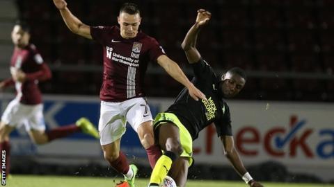 Emmanuel Osadebe makes a tackle