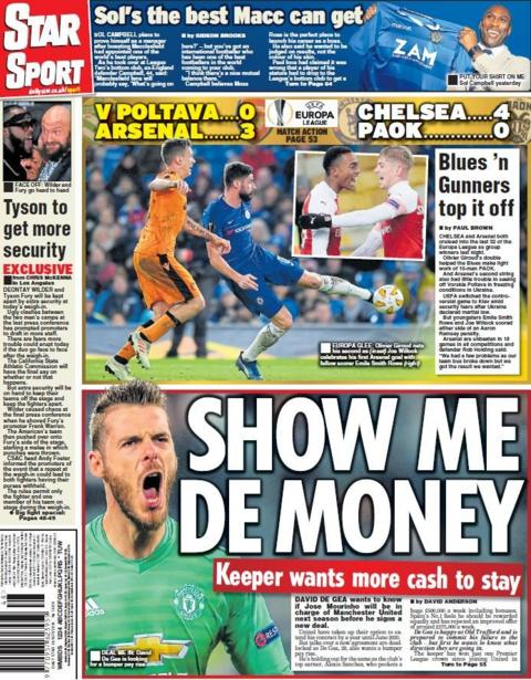 Star back page on Friday