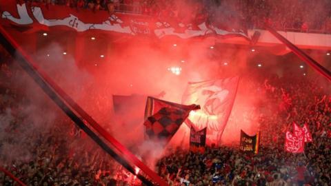 Al Ahly fans packed into Alexandria's stadium on Sunday night for the semi-final against Etoile du Sahel