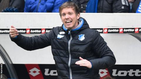 Hoffenheim manager Julian Nagelsmann