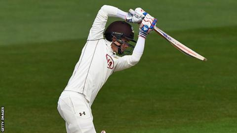Surrey all-rounder Sam Curran's 62 with the bat at Edgbaston followed his 5-44 with the ball on Sunday