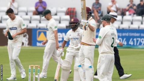 Alex Wakely hit only his second half-century in eight Championship innings this season