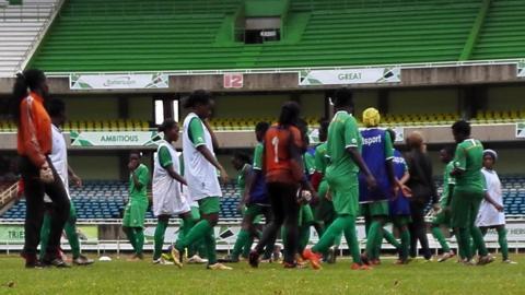 Members of Kenya's National women Football Team