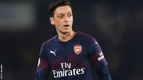 52cb60a9f26 Mesut Ozil came on as a substitute in the 1-1 draw with Brighton in  December. Arsenal manager Unai Emery ...