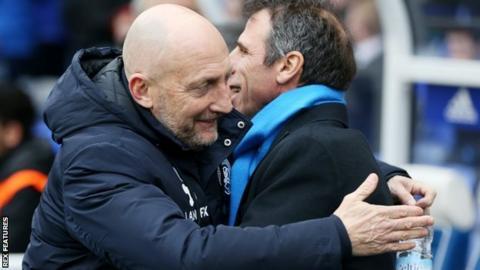 Gianfranco Zola and Ian Holloway