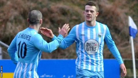 Ciaran O'Connor (right) scored five goals in his previous spell at Warrenpoint Town