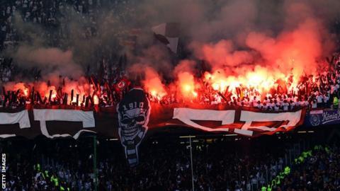 St Pauli fans