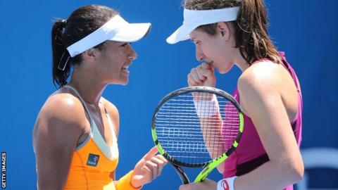 Heather Watson and Johanna Konta