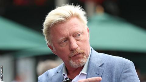 Boris Becker at Wimbledon 2019