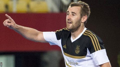 Aberdeen's Niall McGinn celebrates his goal