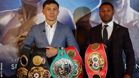 Gennady Golovkin (left) and Kell Brook