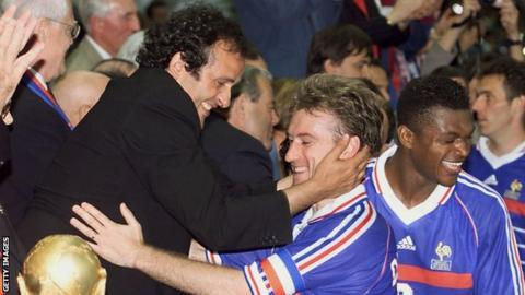 Michel Platini and Didier Deschamps