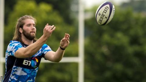 Ben Toolis in training with Scotland