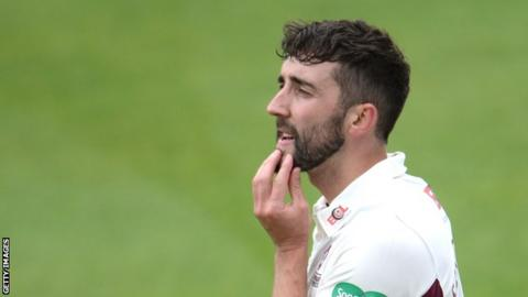 Northamptonshire bowler Ben Sanderson took five wickets for just 16 runs in Gloucestershire's first innings
