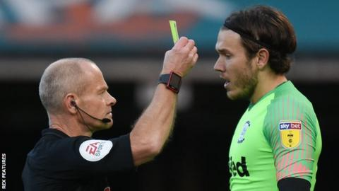 Preston North End goalkeeper Chris Maxwell had never been sent off prior to their game against Ipswich Town