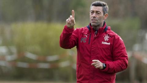Pedro Caixinha takes Rangers training