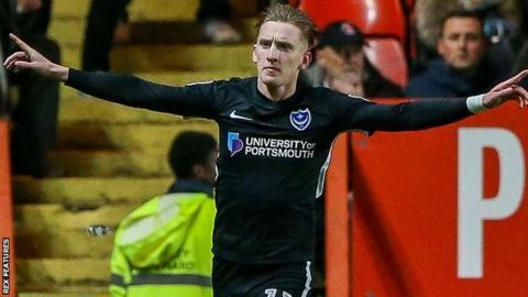 Portsmouth striker Ronan Curtis