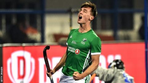 Ireland's Matthew Nelson reacts to a missed chance