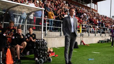 Graham Potter has taken Ostersunds from the Swedish fourth division to the top flight Allsvenskan