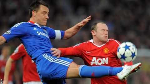 John Terry and Wayne Rooney