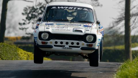 19th April 2019, Antrim, Northern Ireland; Irish Tarmac Rally Championship 3rd Round, day 1; Keith White and Paul Hughes (Ford Escort mk1) finish the day in a superb 12th place overall (Photo by Graham Service/Action Plus via Getty Images)