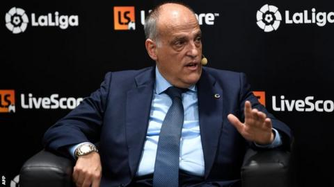 La Liga: Javier Tebas resigns as president but will stand for re ...