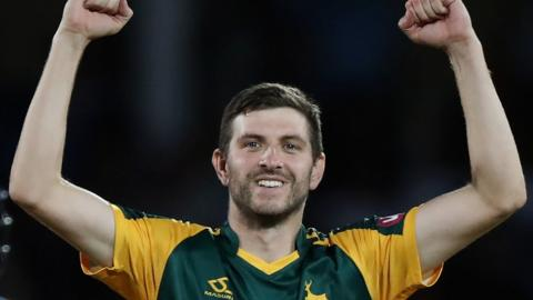 Harry Gurney won the T20 Blast with Notts in 2017