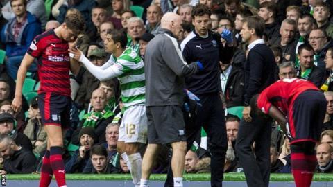 Jack Hendry clashed with Celtic's Cristian Gamboa