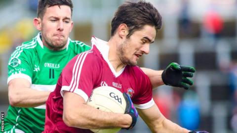 Chrissy McKaigue is a dual football and hurling player for Slaughtneil