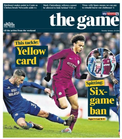 Monday's Times sports supplement