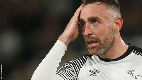 Richard Keogh in action for Derby