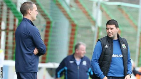 Oran Kearney and David Healy will be back in opposing dugouts at Windsor Park on Saturday