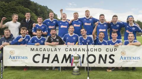 Kyles Athletic win the MacAulay Cup