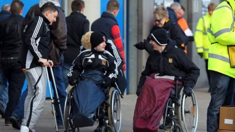 Disabled fans at football