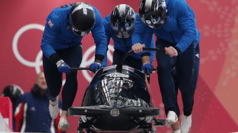 Bradley Hall's GB four-man bobsleigh crew