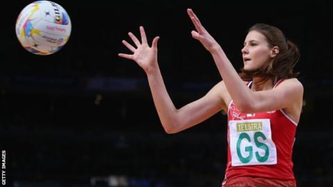 Wales goal shooter Georgia Rowe