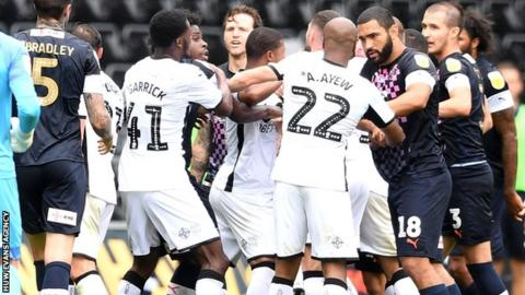 Tempers flare at Liberty Stadium
